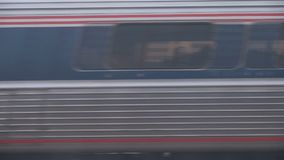 Train passing by. Video of train passing by stock footage