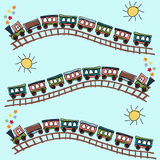 Train pattern Stock Image