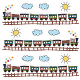 Train pattern Royalty Free Stock Photo