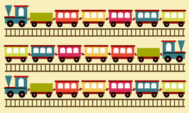 Train pattern, wallpaper Royalty Free Stock Images