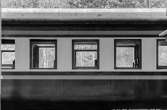 Train without people,black and white pictures. Thailand royalty free stock images