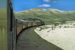Train in Peru. Train crossing Andes mountains in Peru Royalty Free Stock Photography