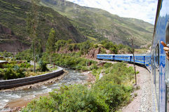 Train - Peru. Train to Machu Picchu - Peru Stock Image