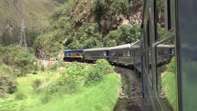 Train in Peru stock footage