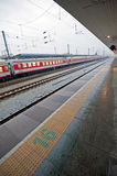 Train platform Royalty Free Stock Photo