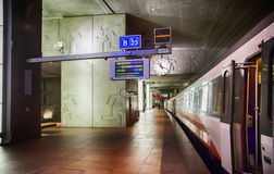 Train platform by Antwerpen Stock Images