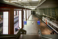 Train platform by Antwerpen Royalty Free Stock Images