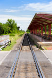 Train platform Stock Image