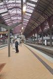 Train platform at Copenhagen Central Station Stock Image