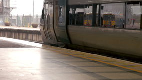 Train on the platform. In high quality format stock footage