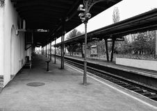 Free Train Platform.Monochromatic Scenery Stock Photography - 107443132
