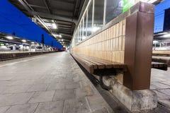 Train platform Stock Photo