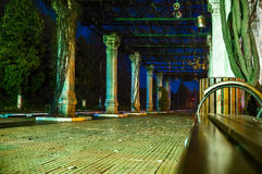 Train platform by night Royalty Free Stock Photos