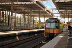 Train at platform of Parramatta railway station Royalty Free Stock Photography