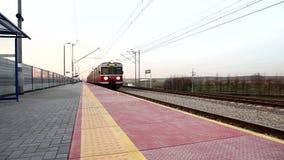 Train on platform stock video