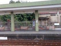 Train platform, Tainan City, Taiwan royalty free stock photo