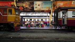 Hualamphong Railway station in Bangkok. stock video footage