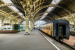 Train platforms at the Vitebsk railway station.Saint-Petersburg. Stock Photography