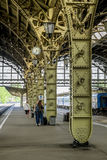 Train platforms at the Vitebskiy vokzal railway station.Russia. Stock Image