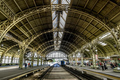 Train platforms at the Vitebskiy vokzal railway station.Russia. Stock Images