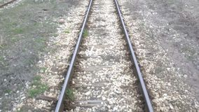 Train Point of View stock video footage