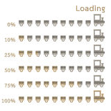 Train preloaders and progress loading bars Royalty Free Stock Image