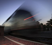 Train pulling out of the station Stock Image