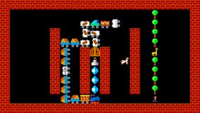 Train puzzle, retro style low resolution pixelated game graphics animation. Level 10 stock footage