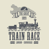 Train Race abstract royalty free illustration