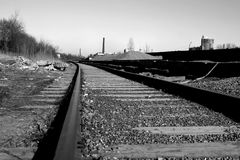 Train rail. Perspective technology transportation royalty free stock photos