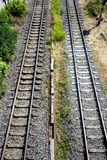Train rail Stock Photos