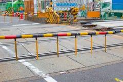 Train Rail Road Crossing Guard Stock Image