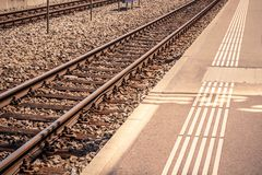 Train rail road, transportation concept Royalty Free Stock Photography