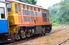 Train on the rail train. Thailand Royalty Free Stock Photos