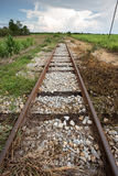 Train rail in urban Thailand Stock Images