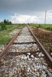 Train rail in urban Thailand Stock Photos