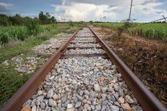 Train rail in urban Thailand Royalty Free Stock Photography