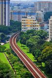 Train railings at Kallang area Royalty Free Stock Images