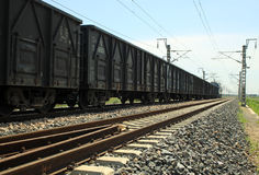 Train in the railroad Stock Photography