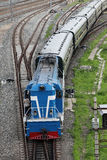 Train railroad railway Stock Photography