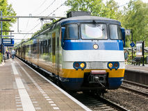 Train on railroad station, Netherlands Royalty Free Stock Images