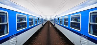 Train railroad transport Stock Images