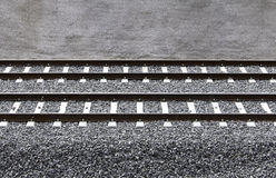 Train rails Royalty Free Stock Photo