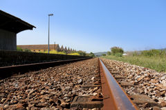 Train rails Royalty Free Stock Images