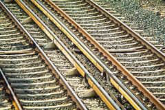 Train rails Stock Photo
