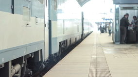 Train on the rails stock footage