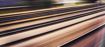 Train rails. In high speed Royalty Free Stock Image