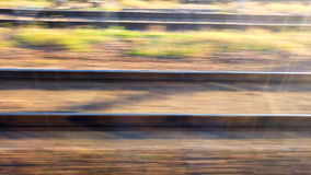 Train rails in high speed stock footage