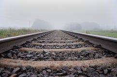 Train rails. Looking down the tracks Stock Photos