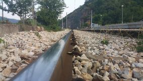 Train rails Stock Photos